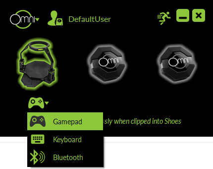 Gamepad Mode Selection