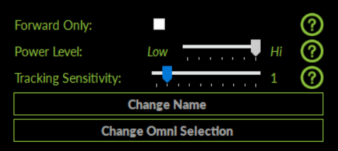 Tracking Sensivity Slider
