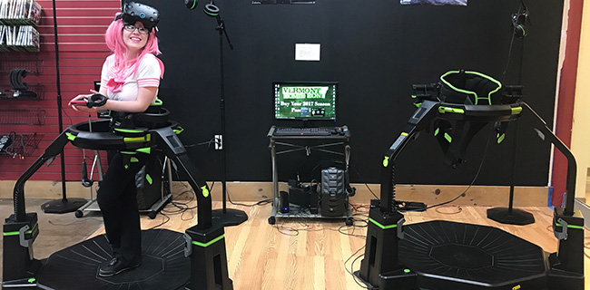 virtuix omni first of its kind active virtual reality motion platform