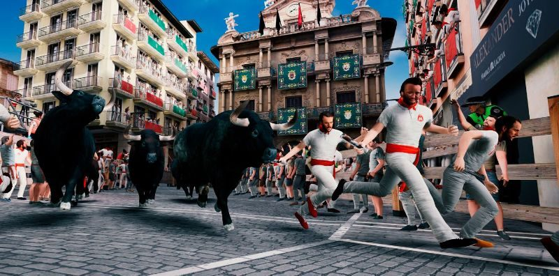 Running with the bulls in VR